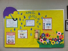 April Showers Bring May Flowers PTO Bulletin Board
