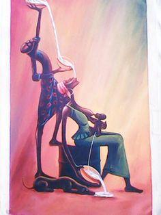 "Saatchi Online Artist isaac opoku badu; Painting, ""Dependant"" #art"