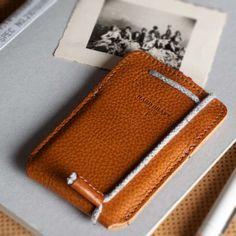 Hard Graft Leather Draw Card Case