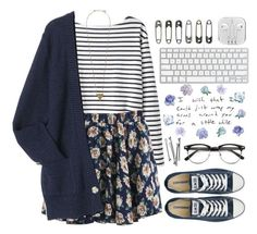 """""""Lovely girl"""" by raquel-t-k-m ❤ liked on Polyvore featuring Wood Wood, Pieces, Converse and BOBBY"""