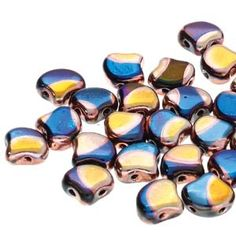 Ginko : GNK8723980-27975BD - Jet Blue Sun Big Dot - 25 Beads