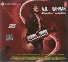 A.R.Rahman Signature Collection||  A.R.Rahman Signature Collection INR 75.00 View Details  5 of 5 people found the following review helpful   One Star   By  Atul Newase - See all my reviews  Verified Purchase(What is this?)  This review is from: A.R.Rahman Signature Collection (MP3 CD)  CD contains totally different songs than that shown in picture   Arr the best mp3   By  KAREEM MANZUR KHAN - See all my reviews  Verified Purchase(What is this?)  This review is from: A.R.Rahman Signature…
