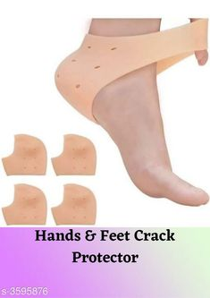 Orthopedics Hands & Feet Crack Protector  *Material* Silicone Gel  *Size* Free Size  *Description* It Has 1 Pair Of Heel gel socks  *Sizes Available* Free Size *   Catalog Rating: ★4 (1507)  Catalog Name: Anti Hands & Feet Crack Protector Vol 3 CatalogID_501276 C125-SC1569 Code: 551-3595876-