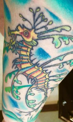 Leafy sea dragon tattoo my work pinterest sea dragon for Sea dragon tattoo