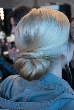 Soft chignon. Hair by @Redken Canada #Hairstyle #Updo #FashionWeek