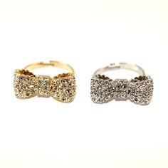 Crystal Bow Ring $18.00
