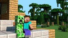 tapeta na pulpit minecraft – Szukaj wGoogle Steve Minecraft, Creeper Minecraft, Minecraft Blocks, How To Play Minecraft, Minecraft Party, Minecraft Houses, Minecraft Stuff, Minecraft Humor, Minecraft Designs