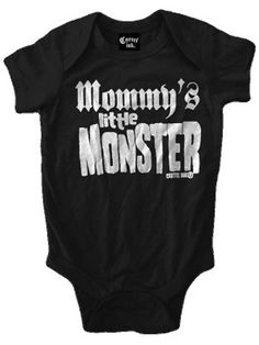 "Infant's ""Mommy's Little Monster"" Onesie by Cartel Ink (Black) #InkedShop #monster #onesie #infant #toddler"