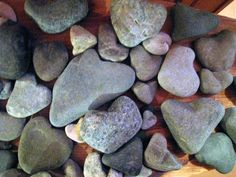 Two things I love: rocks and heart shaped things:)