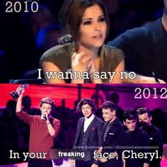 hahaha in your face cheryl