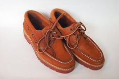 Women's Leather Boat Shoes size 6 1/2B Tan by SelvedgeandSew