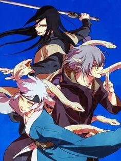 Orochimaru, Kabuto, and Mitsuki