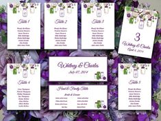 Printable Wedding Seating Chart Template  Apple Red Table Number