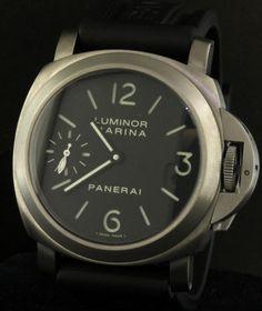 Panerai Titanium PAM 177 mechanical men's watch w/ skeleton back # 1 of 800