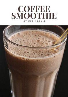 The ultimate breakfast food: Coffee Smoothie