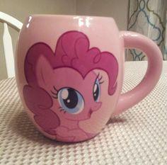Hasbro My Little Pony PINKIE PIE Pink Oval Ceramic Coffee Cup Mug 18 OZ.  #hasbro