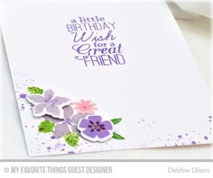 Handmade card from Debbie Olson featuring Mini Modern Blooms