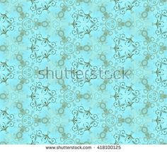 Seamless pattern on a wall, azure. Abstract gentle wall-paper, with vegetable drawing on a rough background. A print for fabric, decorative textiles, packing paper, a background for design, etc.
