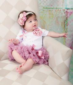Budding Beauty Baby Girl Dusty Rose Tutu Set