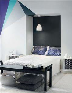 As mmmina pira com essa lindeza de pintura de quarto. <3  http://www.minhacasaminhacara.com.br/pinturas-nada-convencionais/