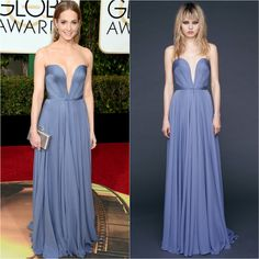 Joanne Froggatt in Reem Acra at the 73rd Annual Golden Globe Awards