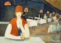 al caffè, Lesser Ury Lesser Ury (7 novembre 1861 - 18 ottobre 1931) è stato un pittore e incisore tedesco impressionista associato alla scuola di Düsseldorf .