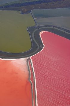 Salt Ponds in Mowry Landing, California