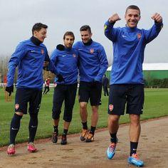 Podolski Back in Full Team Training.