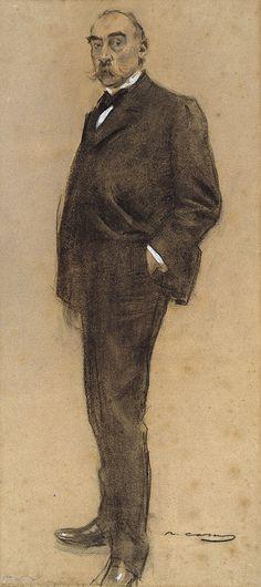 "Ramon Casas Carbó (1866-1932). ""Josep Masriera"". MNAC. Barcelona"