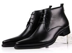 Excited to share some of our favorites with you. Ankle Boots For M... Check it out here! http://lestyleparfait.co.ke/products/ankle-boots-for-men-pointed-toe-mens-dress-shoes-genuine-leather-business-shoes?utm_campaign=social_autopilot&utm_source=pin&utm_medium=pin #fashionkenya #style #nairobi