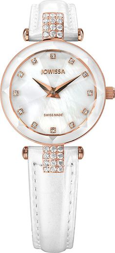 Facet Strass Rose/Mother-of-pearl 25 mm Ladies' Watch Leather White Digital Asset Management, Watch Photo, Bracelet Watch, Ladies Watches, Pearls, Lady, Collections, Rose, Leather