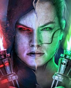 Rey in the darkness and the light Star Wars; guys I kinda wanna see Rey go to the dark side just cuz she'd be so badass...