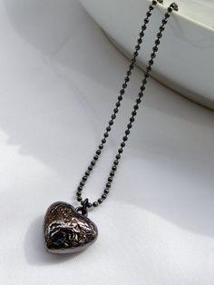 Colar Coração Grafite - Gunmetal Heart Necklace | Beat Bijou