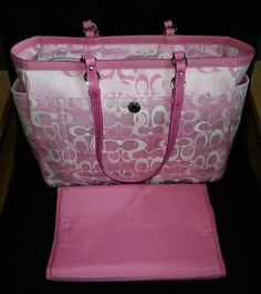 coach diaper bag outlet omyt  Coach pink tote,baby bag or large shopping tote