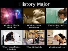 My life as a history major.
