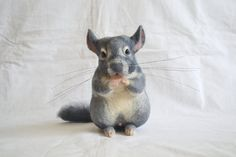 Chinchilla....Felt toy portrait similarity of your by GladOArt