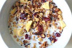granola fit przepis zdrowa Granola, Oatmeal, Breakfast, Food, The Oatmeal, Morning Coffee, Meal, Muesli, Essen