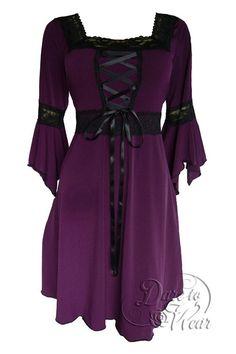 Dare To Wear Victorian Gothic Women's Plus Size Renaissance Corset Dress Plum