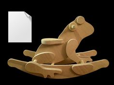 Rocking Frog DIY Full-Sized Paper Woodworking Plans