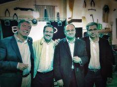 Santiago Luna, Manuel Gutiérrez Tió, Francisco José Gordillo Peláez y Juan Antonio Riesco Miranda. 6 de diciembre de 2014.