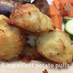 5 ingredient potato puffs, easy, yummy, crispy on the edges and underneath, soft in the middle and very scrummy. Kid friendly, freezer friendly...delicious. Soft Food For Braces, Braces Food, Potato Puffs, Baked Potato, Soft Foods, Toddler Meals, Kids Meals, Toddler Recipes, Freezer Meals