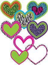 Colorful Leopard Heart Pop-Outs with Pizzazz!