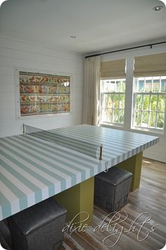 If you're going to have a ping pong table in a beach house, this might just be the perfect one!