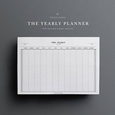 Yearly Planner Printable Bundle 3 pages Yearly Planner To
