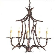 Imperial bamboo chandelier with 5 lights from Woodson & Rummerfield Decor, Maine House, Light, Bamboo Chandelier, Lighting, Lights, Chandelier, Entry Lighting, Ceiling Lights