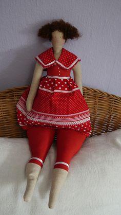 Deko-Objekte - Badedame Tilda (rot) - ein Designerstück von sabinchenfrauenzimmer bei DaWanda