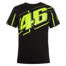 Camiseta Valentino Rossi Oficial 46 Negra Valentino Rossi Logo 9e4d49e260f