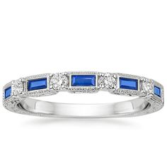 18K+White+Gold+Vintage+Sapphire+and+Diamond+Ring+from+Brilliant+Earth