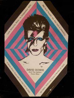 Poster de David Bowie par John Brett salon du vintage 2015