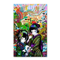 Pulgha & 2 Geishas by Miguel Paredes Graphic Art on Wrapped Canvas